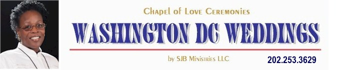 Washington DC Officiant, Marriage License Agent, DC Minister, Weddings